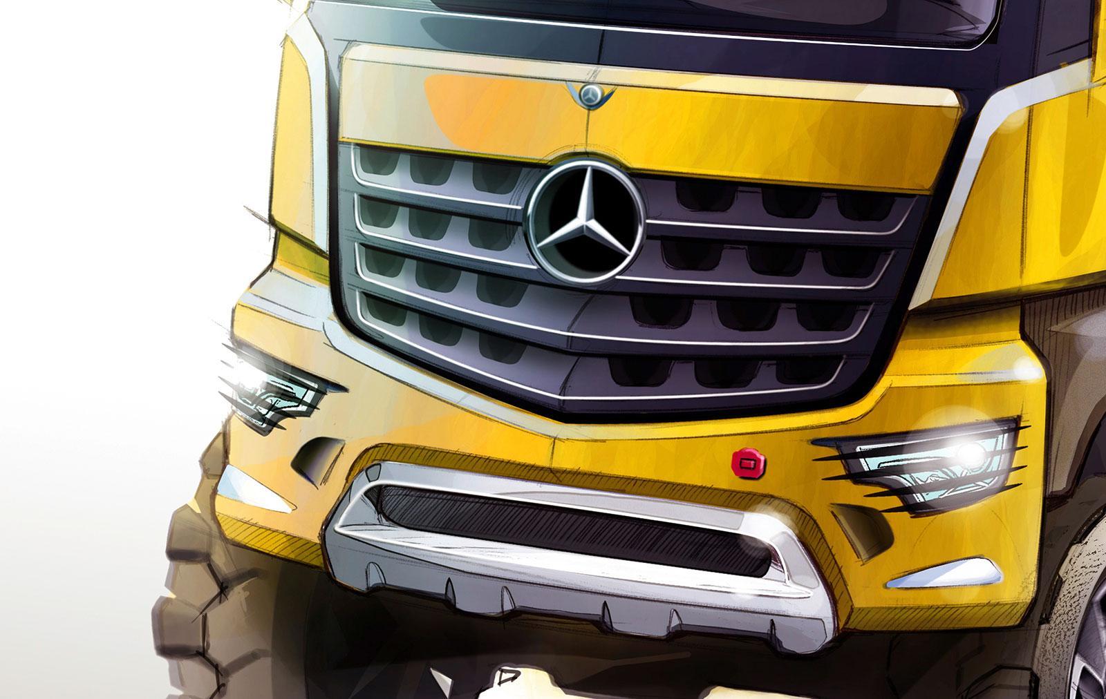 Mercedes benz arocs design sketch detail car body design for Mercedes benz detailing