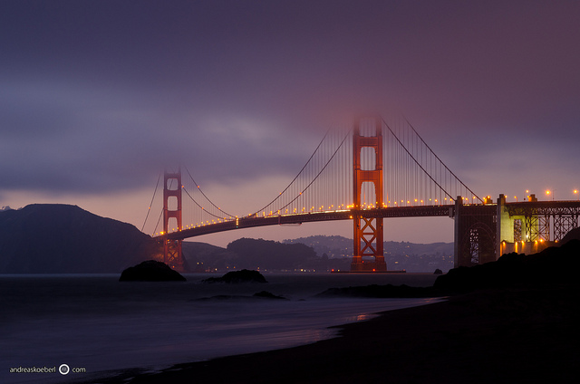 Illuminated Golden Gate Bridge - [EXPLORED] | Flickr - Photo Sharing!