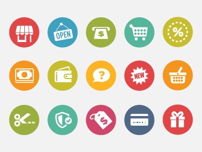Shopping Icons by Scott Dunlap