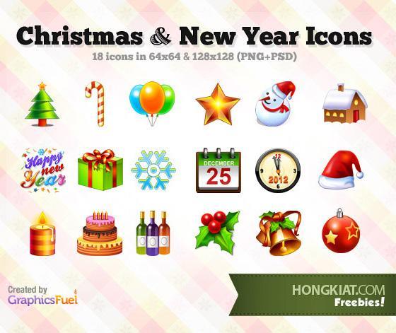 25 b? icon ??p ?ón Giáng sinh và N?m m?i | Download | Y2Graphic