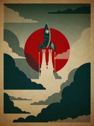 The Voyage Art Print by Danny Haas | Society6