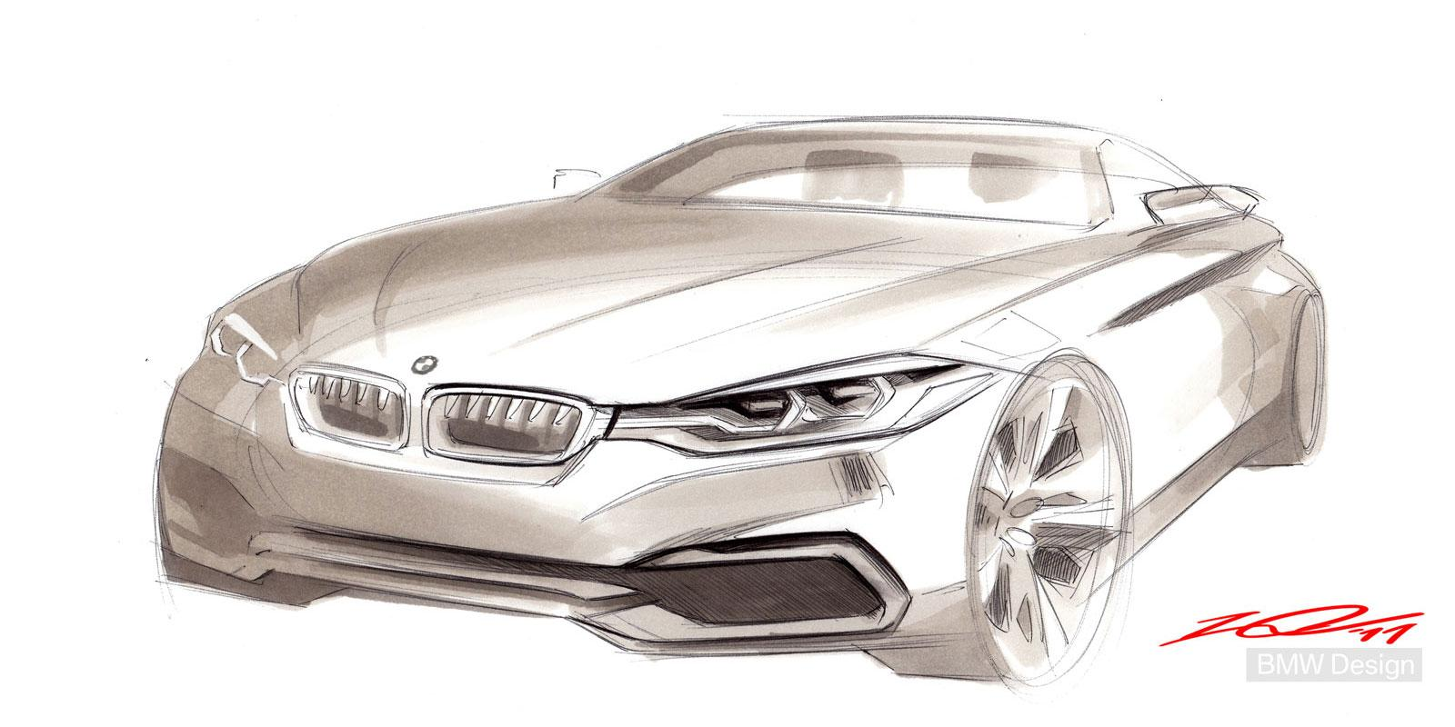 BMW Concept 4 Series Coupe - Design Sketch - Car Body Design