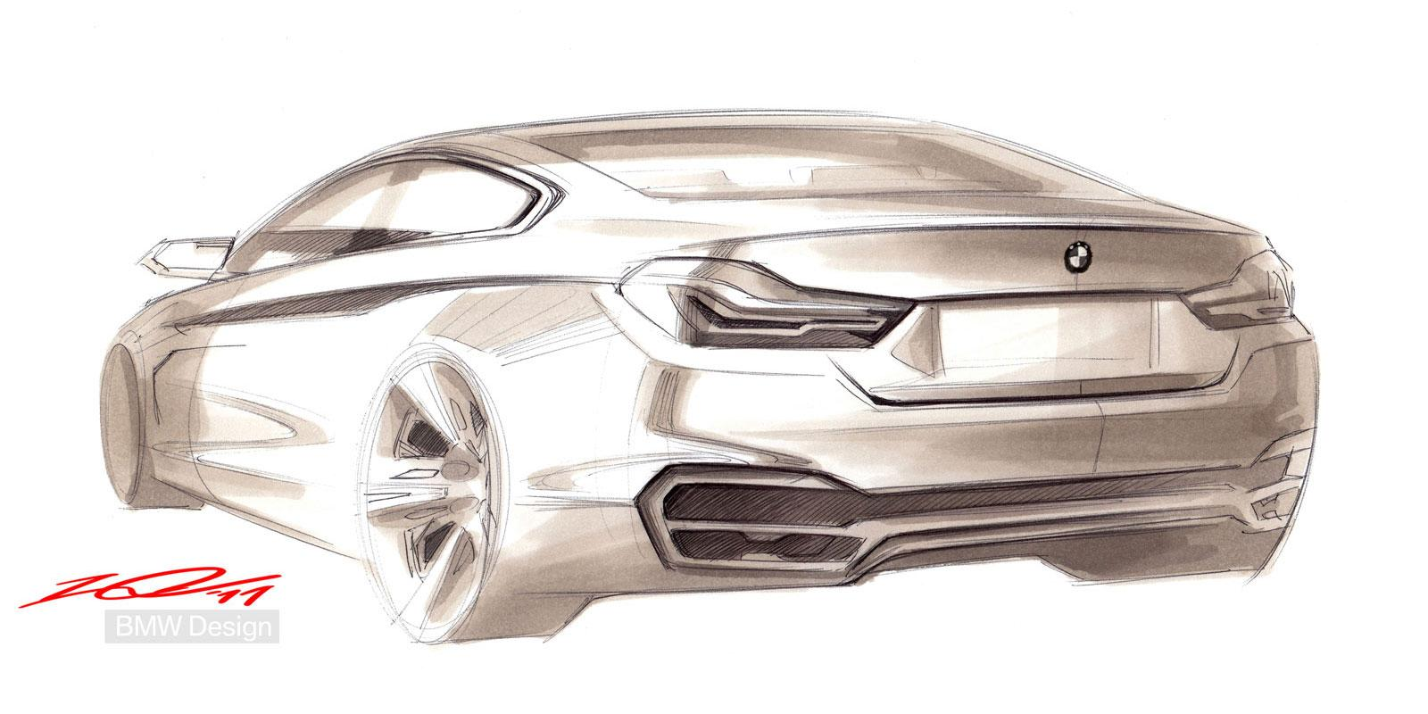 BMW Concept 4 Series Coupe - Design Sketch - Car Body Design #180433 ...: www.wookmark.com/image/180433/bmw-concept-4-series-coupe-design...