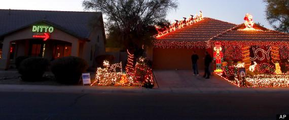 'Ditto' Christmas Lights Display Is One Woman's Answer To Tacky Neighbors