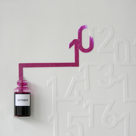 Dezeen » Blog Archive » Ink Calendar by Oscar Diaz