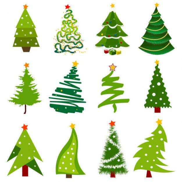 Remarkable christmas tree vector pics