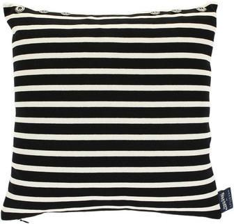Jean Paul Gaultier - Petit Marin Cushion - Noir Ecru - 40x40cm from Amara Living | Cushions - furnish.co.uk