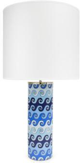 Jonathan Adler - Carnaby Blue Waves Table Lamp - Large from Amara Living | Table lamps - furnish.co.uk