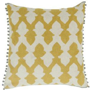 Niki Jones - Lattice Chartreuse Cushion from Amara Living | Cushions - furnish.co.uk