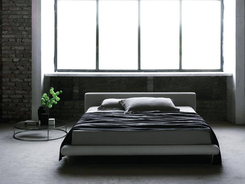 DOUBLE BED WITH UPHOLSTERED HEADBOARD AVALON COLLECTION BY LIVING DIVANI | DESIGN EERO KOIVISTO, CLAESSON KOIVISTO RUNE