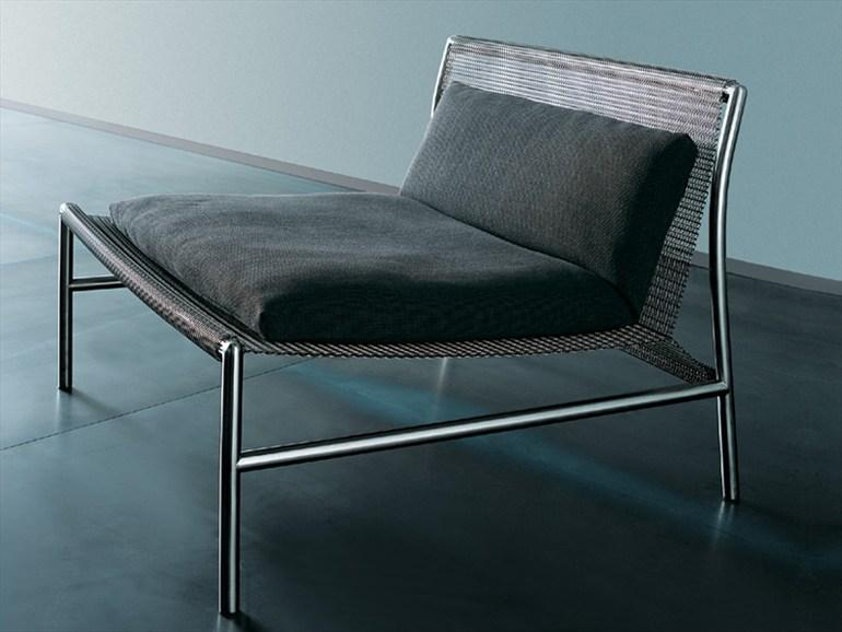 STEEL ARMCHAIR HI-TECH BY LIVING DIVANI | DESIGN PIERO LISSONI