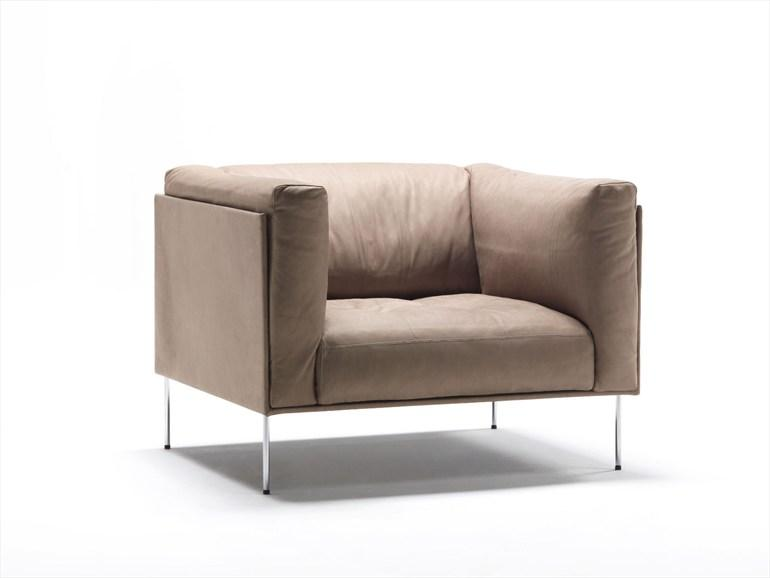 UPHOLSTERED ARMCHAIR ROD COLLECTION BY LIVING DIVANI | DESIGN PIERO LISSONI