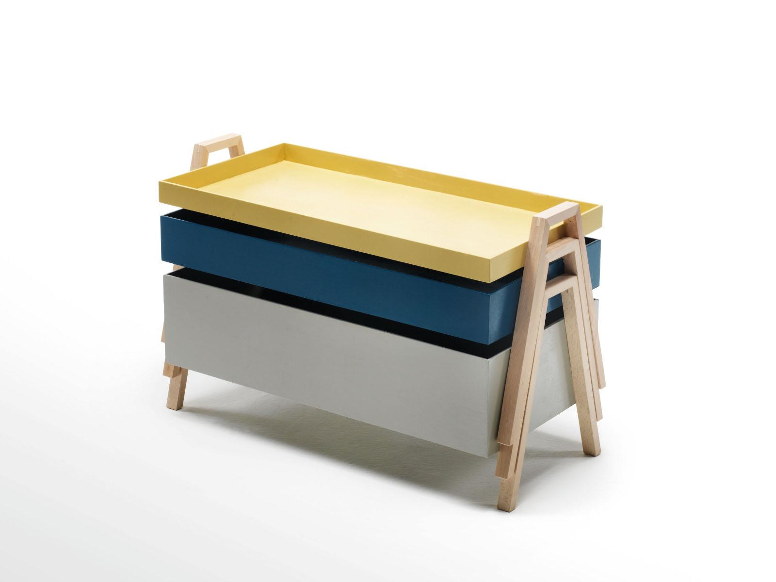 STACKABLE WOODEN COFFEE TABLE STACK TABLE BY LIVING DIVANI
