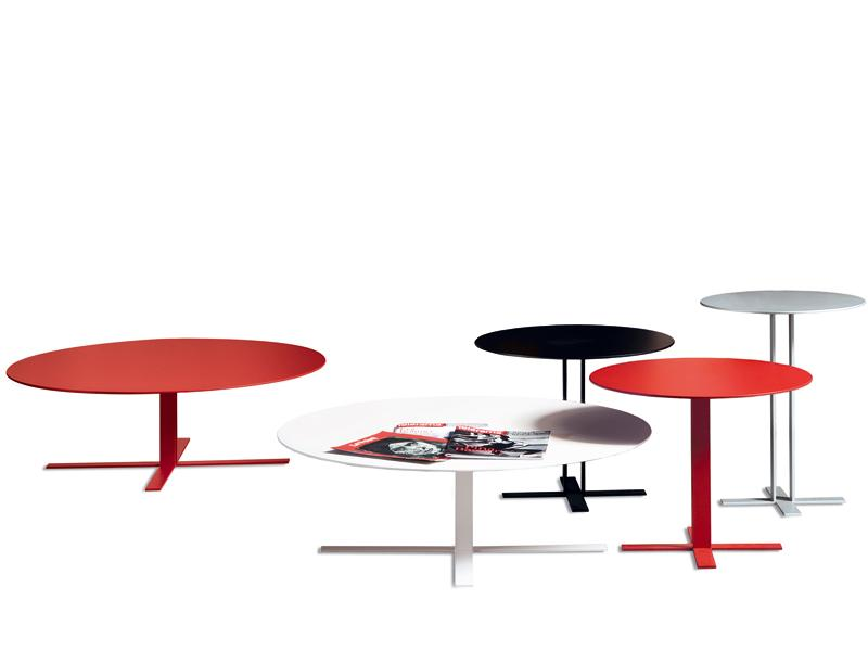 ROUND COFFEE TABLE PIU' BY SABA ITALIA | DESIGN GIUSEPPE VIGANÒ