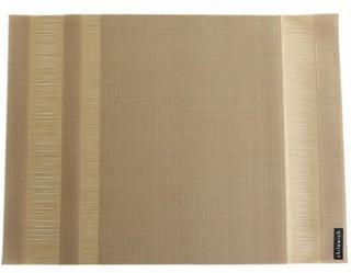Chilewich - Tuxedo Stripe Rectangle Placemat - Gold from Amara Living | Placemats - furnish.co.uk