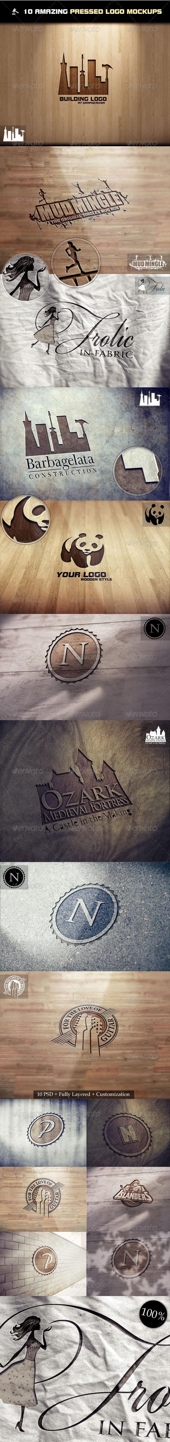 Graphics - 10 Amazing Pressed Logo Mock-Ups | GraphicRiver