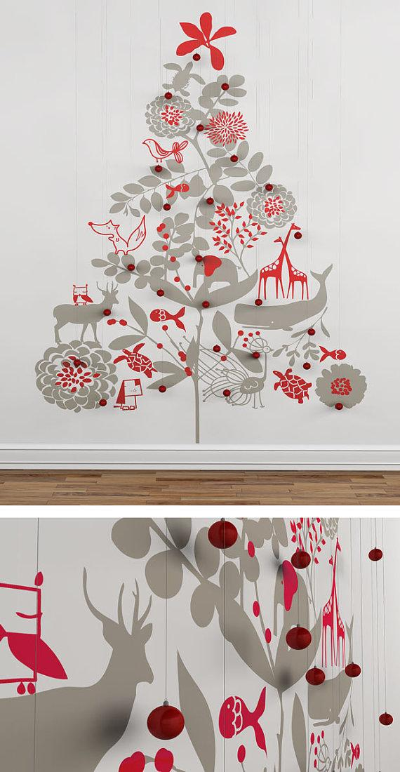 Christmas Tree Wall Decal an Original Christmas par LeoLittleLion