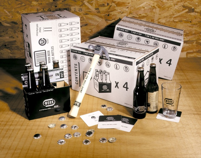 WORK Beer - TheDieline.com - Package Design Blog