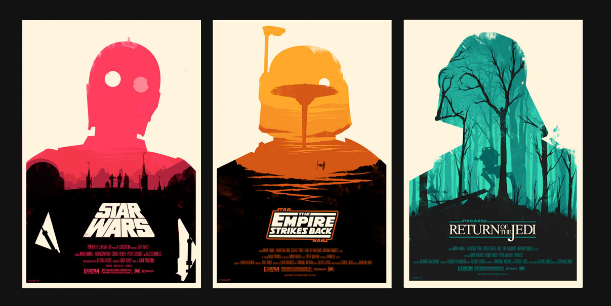This Is Visual Food For Art // ollymoss: Star Wars My take on the original...