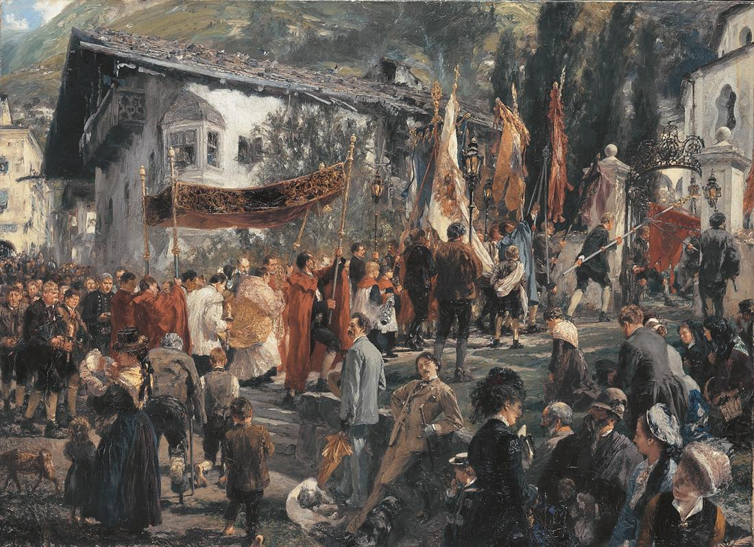 Procession+in+Hofgastein.+1880.jpg (1100×797)
