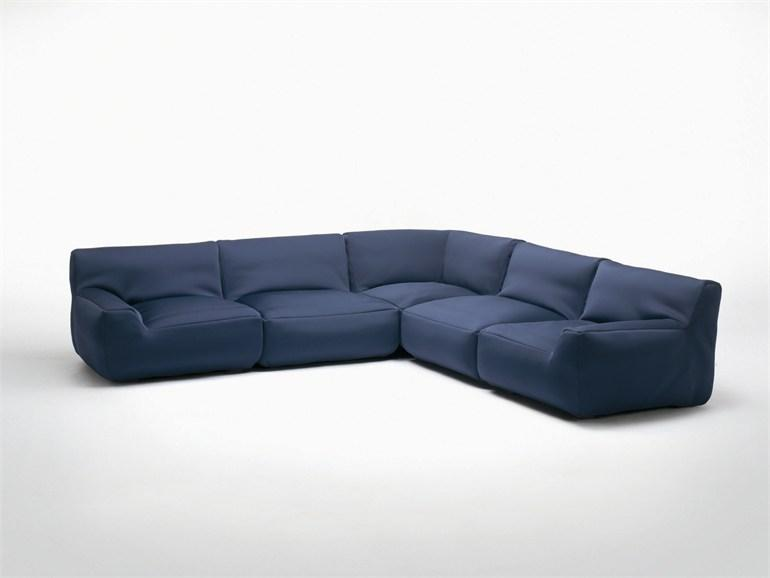 SECTIONAL SOFA WITH REMOVABLE COVER SOUFFLÉ AQUA COLLECTION BY PAOLA LENTI | DESIGN FRANCESCO ROTA