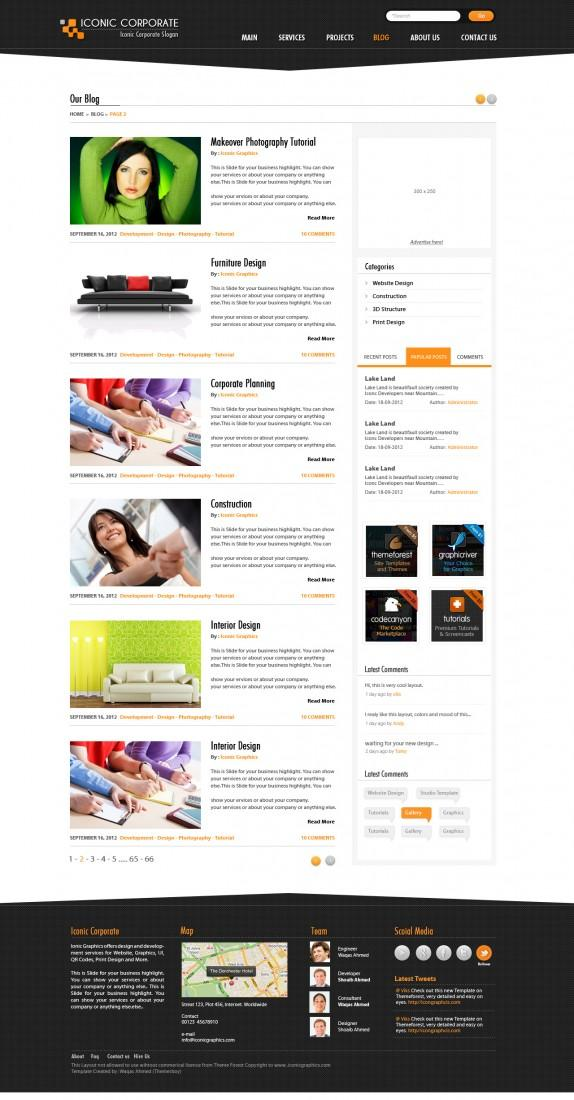 Iconic Corporate PSD Template