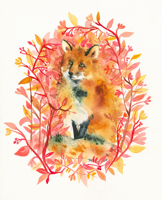 September Fox Limited Edition Archival Art by amberalexander