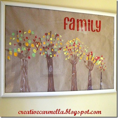 Ucreate with Kids: A Family Art Project: Handprint Trees!