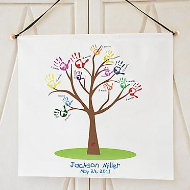 Baby Handprint Growth Tree Banner | Marilyn's Keepsakes