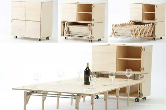 Creative and Unique Space Saving Dining Table and Chairs ...