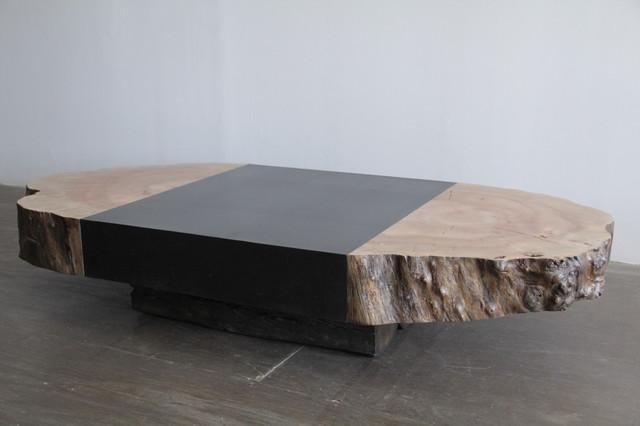 Contemporary Coffee Table natural end coffee table - contemporary - coffee tables