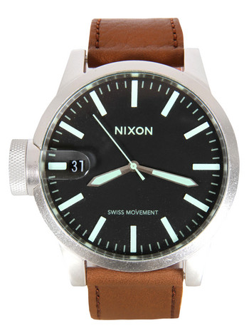 Nixon The Chronicle Saddle Leather Watch at Coggles.com online store
