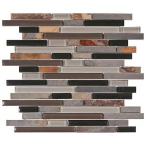 Tessera Piano Stonehenge 11-3/4 in. x 11-3/4 in. Glass and Stone Mosaic Wall Tile-GDMTPNH at The Home Depot