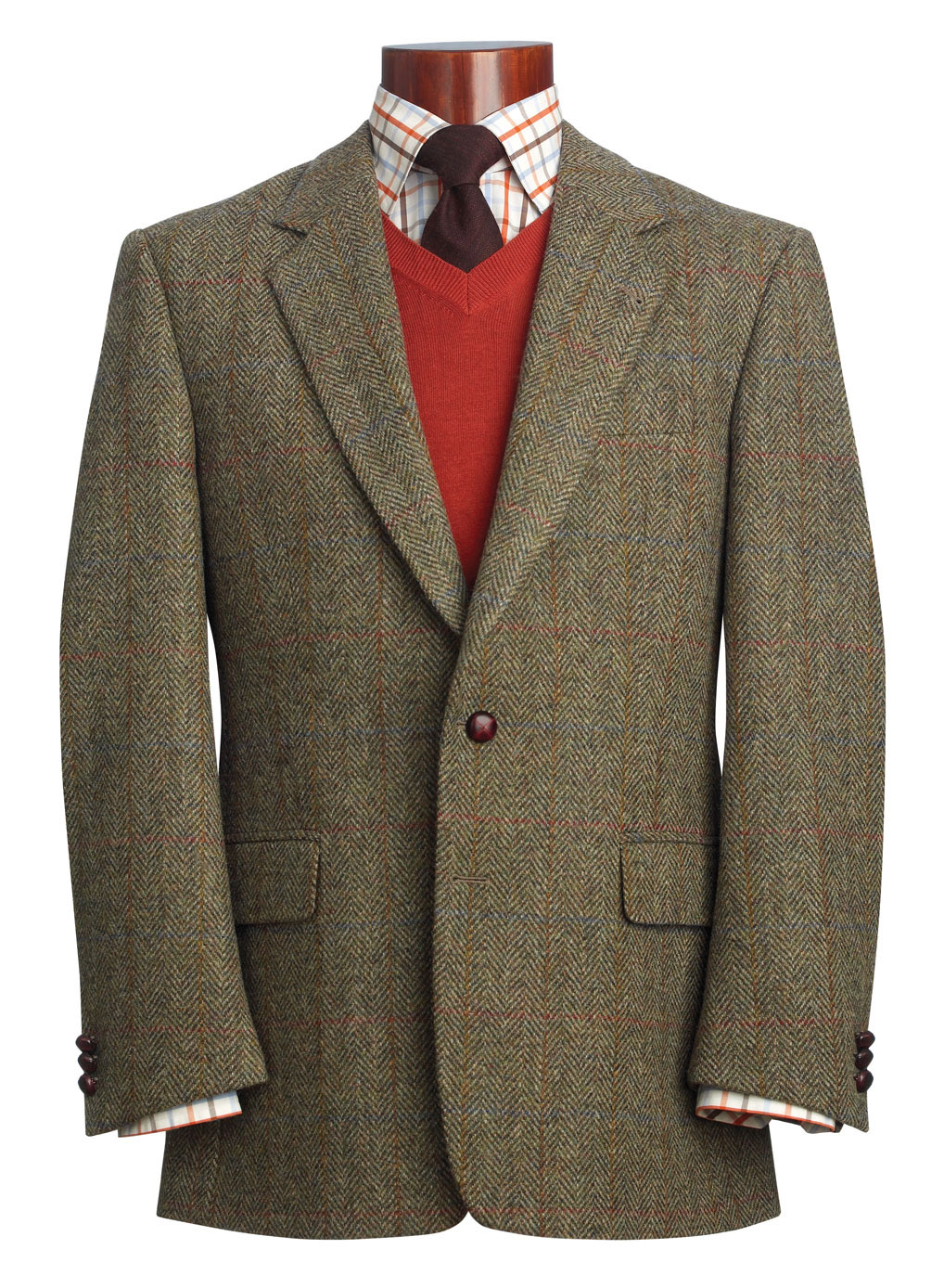 Твидовый пиджак Harris Tweed | Шерстяные жакеты