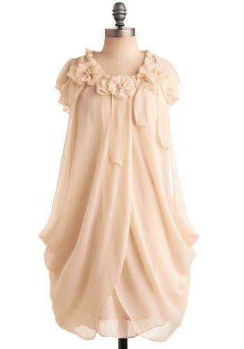 Ryu Ivory Rose Dress   Mod Retro Vintage Printed Dresses   ModCloth.com
