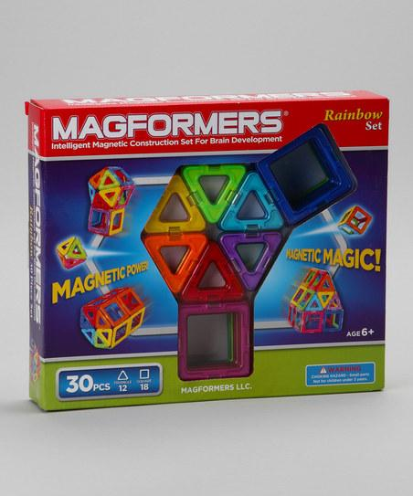 Rainbow 30-Piece Magnetic Set | Daily deals for moms, babies and kids