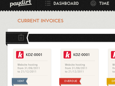 Paydirt App Invoices by Marc Katsambis