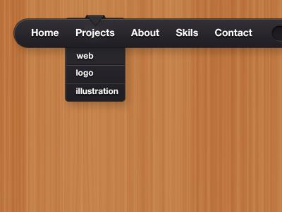Simple black UI menu by Dusan Milovanovic - Designmoo