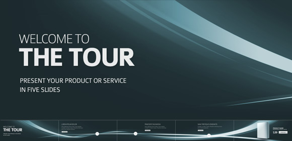 Five slides as presentation tour (Free PSD) by duckfiles - Designmoo