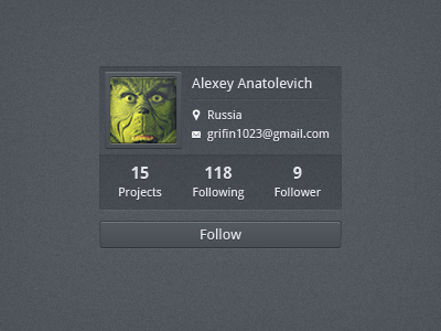 User profile by Alexey - Designmoo