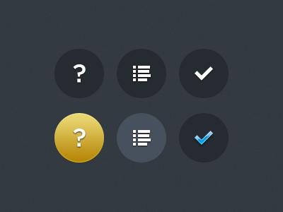 iOS buttons by Teemu Paananen