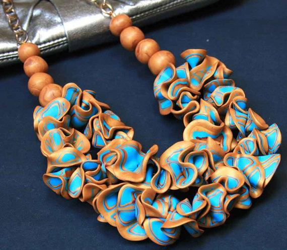 All the Glitters Gold and Turquoise Polymer clay by SaraAmrhein