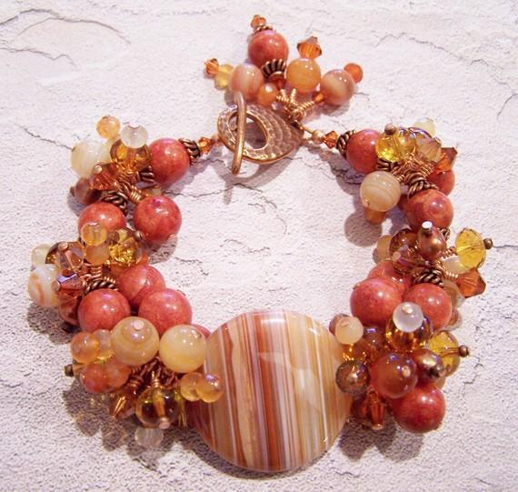 Indian Summer Bracelet by Fanceethat on Etsy