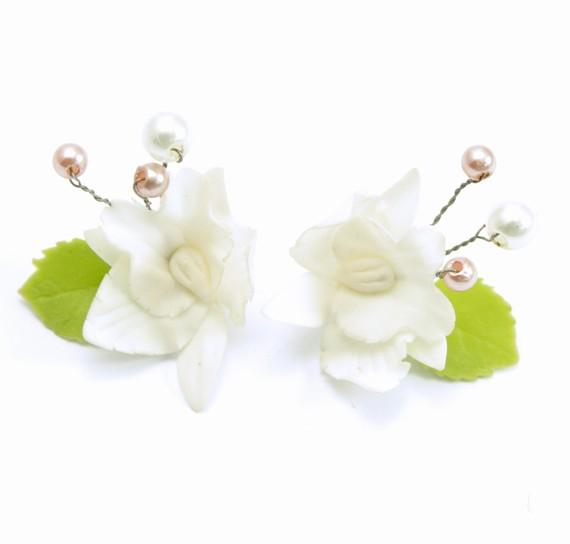 Miniature Polymer Clay Flowers Jewelry Handmade by minihandmade