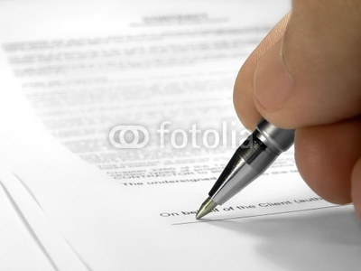 Photo: signing contract © Agb #50567