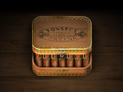 Cigar Box iOS Icon by Konstantin Datz