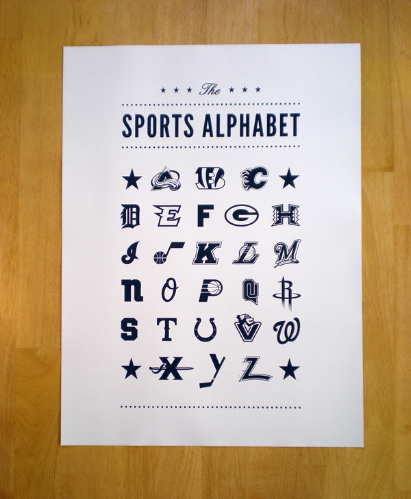 The Sports Alphabet :: Typography Served