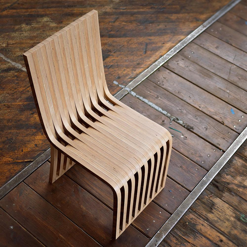 // Slice cafe and dining chair by Graypants design.