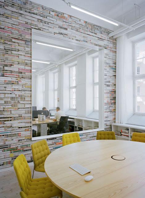 La maison d'Anna G.: Un mur de magazines