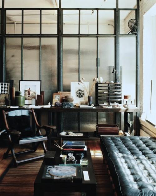 Industrial Interior Design Ideas traditional industrial living room industrial sawhorse office industrial decor ideas 35 Interesting Industrial Interior Design Ideas Shelterness